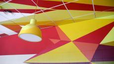 couleurs chaleureuse déco murale en 3D