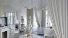 Intérieur élégant et luxueux en blanc