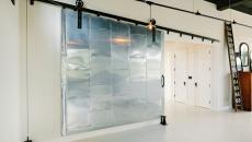 Porte coulissante design industriel en métal