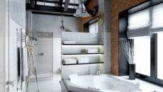 salle de bains loft masculin