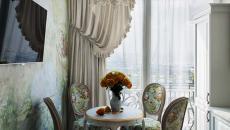 salle à manger ambiance retro baroque