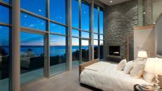 Coucher de soleil romantique chambre avec vue