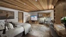 suite de luxe design rustique villa