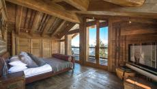 intérieur bois chambre à coucher rustique idées