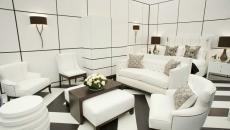 Design luxe en blanc et noir chambre parentale