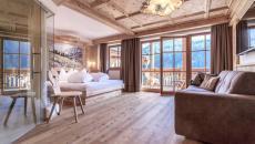 intérieur déco rustique hôtel suite montagne tyrol