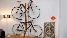 rangement astucieux deux vélo appartement