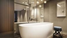 suspensions originales salle de bain créative