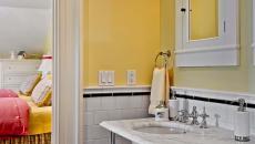 salle de bain déco design en jaune