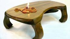table basse originale bois massif séjour