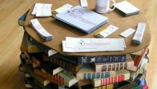fonctionnalité table basse design livres