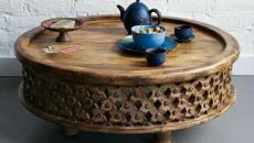 touche exotique et orientale table basse design