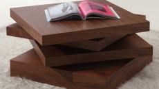 table basse design original en plateaux bois