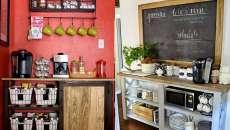 coin console de café sympa cuisine maison
