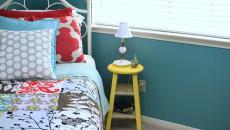 tabouret peint couleur fraiche table de chevet pas cher