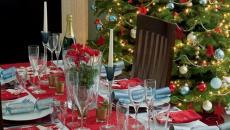 belle décoration de table pour le jour de l'an