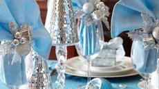 belle table décoration idées en bleu