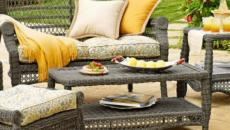 mobilier outdoor salon de jardin rotin