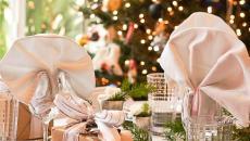 Décoration table festive fin d'année noel