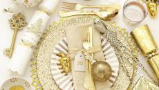 décoration dorée table jour de l'an