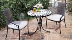 table de bistro chaises ameublement jardin