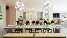 salle à manger table dressée recevoir maison
