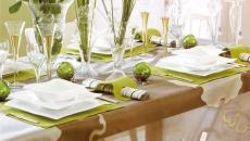 décoration fraicheur table de noel convives