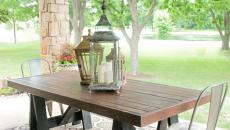 Table massif bois tréteaux DIY