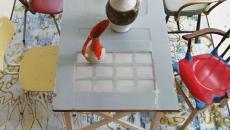 table salle a manger créative originale porte intérieure