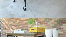 table barbecue oudoor jardin a roulettes