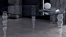 table en verre designer luxe déco chic Halloween