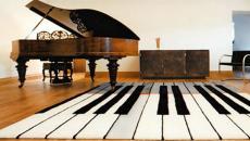tapis de sol design à l'inspiration musicale