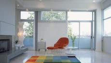 tapis de couleurs séjour contemporain et moderne