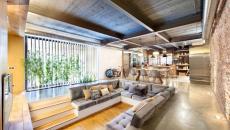 élégante maison moderne aménagement tendance coin assises enfoncées