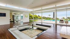spacieux séjour luxe aménagé fosse de conversation