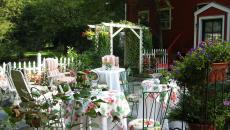 travailler l'ambiance festive jardin maison recevoir dehors
