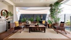aménagement décoration terrasse tapis
