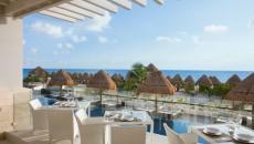 Vue sur la mer restaurant hôtel luxe séjour mexique