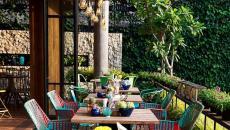 terrasse avec vue restaurant touristique exotique
