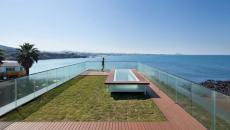 café moderne terrasse sur le toit