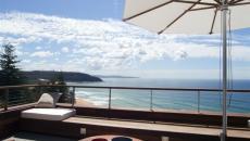 superbe terrasse vue sur l'océan