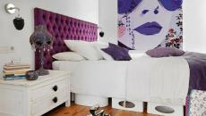 décoration mauve violette chambre