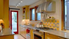 cuisine moderne intérieur jaune