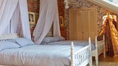 chambre lits séparés enfants moustiquaire ronde