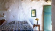 ambiance chambre rustique moustiquaire simple