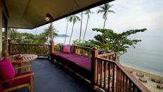 Terrasse vue sur la mer hôtel Koh Samui