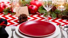 vaisselle sympa blanc et rouge Noël