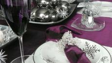 vaisselle luxe dans l'esprit Noël