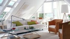 murs de grenier transformés en fenêtre de toit loft