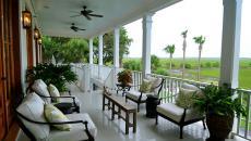 terrasse balcon résidence de vacances exotique